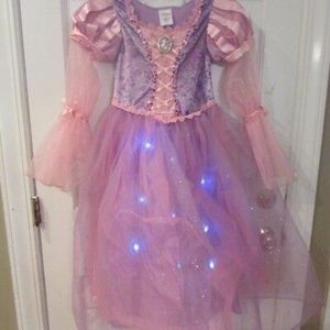 Disney Store Rapunzel Dress Costume LIGHTS Up 5/6